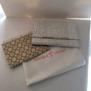 Ivanka Trump White Leather Clutch Bag